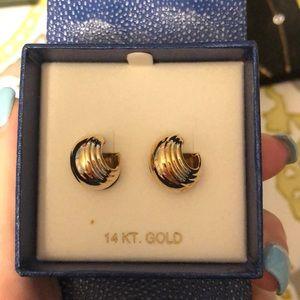 BRAND NEW 14 KT GOLD HOOP EARRINGS